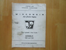 Wisconsin Air Cooled Engines Models Thd And Tjd Starting Operating Instructions