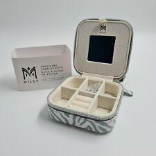 Milly Traveling Jewellery Case 4 x 4 x 2 Compact Compartments Jewellery Holder