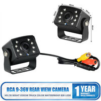 Waterproof IR LED Car Rear View CCD Camera Night Vision Reverse Reversing 12/24V