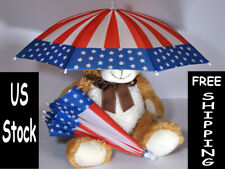 Outdoor Fold-able USA American Flag Umbrella Hat for Adults Kids 4th of July