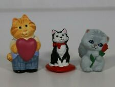 Hallmark Valentine Merry Miniatures - Valentine Cats (Lot of 3)