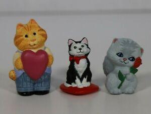 Hallmark Valentine Merry Miniatures - Valentine Cats (Lot of 3)