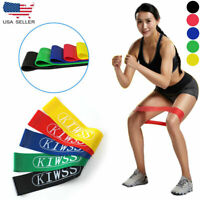 16Pcs Heavy Duty Resistance Band Loop Exercise Yoga Power Gym Fitness US Ship