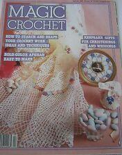 Crochet Pattern Book Magic Crochet Magazine Back Issue 34 Feb 1985 w/ 30 Designs