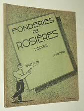 Catalogue FONDERIE ROSIERES BOURGES Poele Chauffage 1937 brochure book