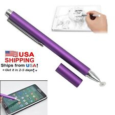 Fine Point Stylus Design Touchscreen Pen for HTC, Samsung, iPad, Tablets-Purple
