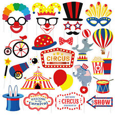 27Pcs Photo Booth Party Props Funny Circus Clown Beard Party Selfie Decoration
