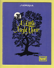 "Vintage Souvenir Programme ""A Little Night Music"" ~ 1973 ~ Her Majesty's Sydney"