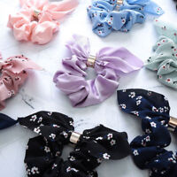 New Women Elastic Bow Knot Hair Rope Ring Tie Scrunchie Ponytail Holder Headwear