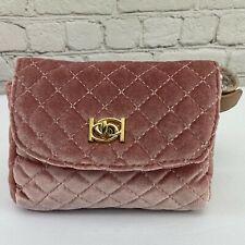 NEW! Bebe Danielle pink velvet quilted belt or waist bag fanny pack, MSRP: $69