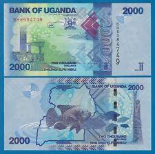 Uganda 2000 Shillings P 50c 2015 UNC Low Shipping! Combine FREE! 50 c