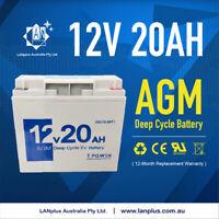 Brand NEW 12V 20AH AGM Deep Cycle Rechargeable Battery Solar Jump Starter JetSki