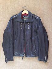 Affliction KEEPER Leather Jacket NWOT New Studded Black