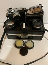 Yashica GSN Electro 35 Camera, Lenses and Flash With Case - Very Clean