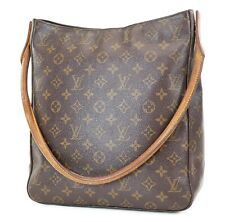 Authentic LOUIS VUITTON Looping GM Monogram Shoulder Tote Bag Purse #37395