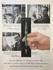 1958  SHEAFFER Snorkel Fountain Pen Vintage PRINT AD