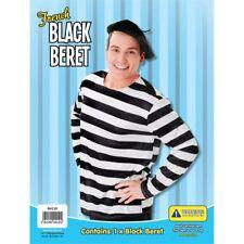 Black Childrens French Beret - Fancy Dress Hat Fancy Dress Berret Man Frenchman