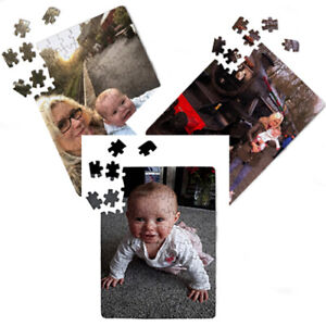 PERSONALISED CUSTOM PHOTO PUZZLE JIGSAW WITH BOX - A4 - BIRTHDAY