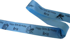Personalised Ribbon Fishing Theme for birthday, awards, cakes, trophy, gift etc
