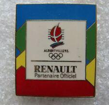 Pin's RENAULT Albertville JO Jeux Olympique #E5
