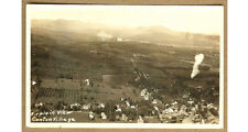 Vintage Airplane View of Canton Village Real Photo Postcard