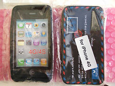 COVER CUSTODIA IPHONE 4G 4GS IN GOMMA STILE LETTERA