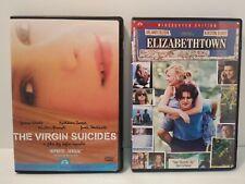 The Virgin Suicides & Elizabethtown Dvd Lot Kirsten Dunst Fast Free Shipping