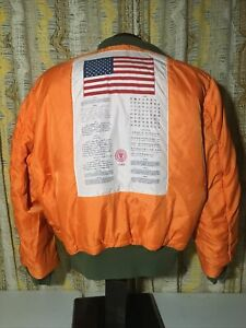 RARE Alpha Industries Limited Edition MA-1 Blood Chit Flight Bomber Jacket