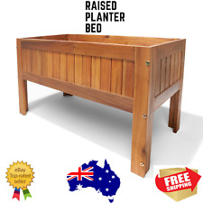 Raised Planter Garden Bed Elevated Timber Wood Plant Holder Balcony Box Spring