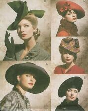Vogue Accessories Hats 40s 50s PATTERN 7454 Hat Making Millinery Fascinators