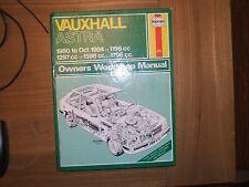 HAYNES MANUAL VAUXHALL ASTRA 1980 to OCT 1984 635