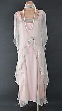 PINK Nataya Dress Gatsby Victorian 10920's style Formal Victorian wedding L NWT