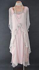 PINK Nataya Dress Gatsby Victorian 10920's style Formal Bridal wedding L NWT