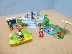 Schwimmbad Tretboot Strandkorb Figuren zu Summer Fun Playmobil 1247