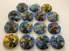 15 NINJAGO BADGES Party Bag Fillers