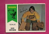 RARE 1974-75 OPC WHA # 20 COUGARS DAVE DRYDEN NRMT+ CARD  (INV # 1847)