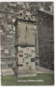 Dorset; Old Sundial, Wimborne Minster PPC, 1915 PMK, To Mr Steele, Herston