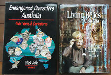 Endangered Characters of Australia Yarns & Caricatures + Living Relics 2 Books