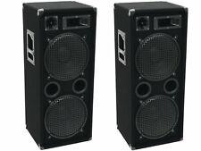 PA Party DJ Disco Lautsprecher Boxen 2000 Watt 3 Wege 4 x 30 cm Bass