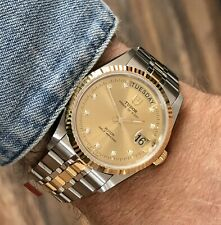 Tudor 76213 Rolex Prince Date Day Diamond Dial Mens 35mm Gold Full Set new watch