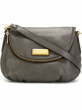 Marc By Marc Jacobs Classic Q Natasha Leather Crossbody Gray Handbag $398