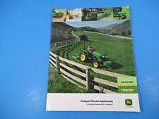 Original John Deere Sales Brochure iMatch Compact Tractor Implements M1355