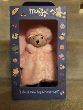 Rare 2002 Muffy VanderBear Big Dress Up Plush Bear Pink Furry Coat Hat Set 8�