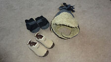 Infant Boy Size 5 (22) beach water sea shoes Baby Gap Hat & Mittens s/m bundle