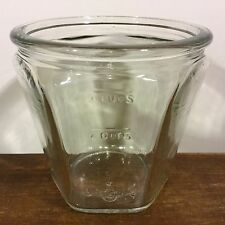 Vtg HEXAGON Clear Glass Egg BEATER Hand MIXER Mixing MEASURE 3 Cup Canister JAR