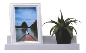 White Floating Shelf With Matching Photo Frame Depth Display Shelves