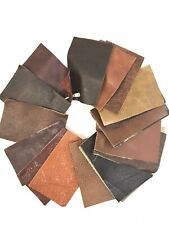 """Leather Samples 24 Pieces 4"""" x 2.5"""" Craft Projects Repairs"""