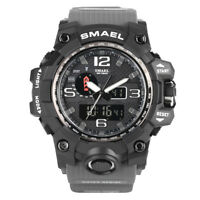 Men SMAEL Japan Quartz Wrist Watch Wateproof Sport LED Military Army Chronograph