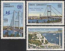 TURQUIE 1973 Pont du Bosphore/Construction/Engineering/transport/UNICEF 3 V Set n29020