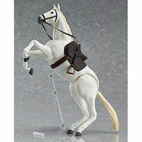 1/12 Scale Figure 15CM Figma 246b White Horse PVC Animal Scene Model Hot Toys